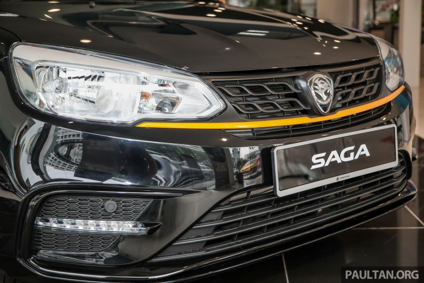 2020 Proton Saga Anniversary Edition launched – 35th birthday special in black-yellow, 1,100 units, RM39,300 Image #1142902