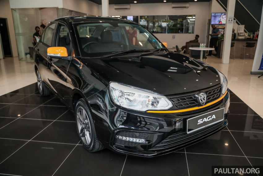 2020 Proton Saga Anniversary Edition launched – 35th birthday special in black-yellow, 1,100 units, RM39,300 Image #1142894