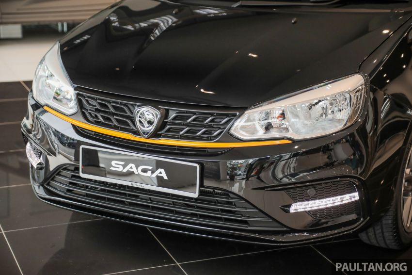 2020 Proton Saga Anniversary Edition launched – 35th birthday special in black-yellow, 1,100 units, RM39,300 Image #1142900