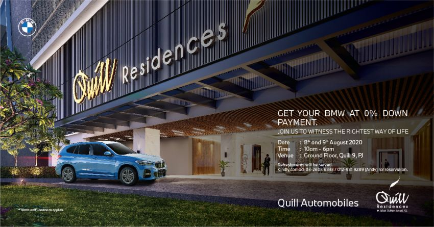 AD: Get your BMW at zero downpayment with Quill Automobiles at Quill 9 PJ from August 8 to 9, 2020 Image #1154033