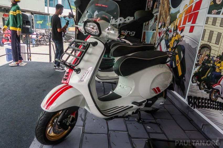 Vespa Sprint dan GTS Racing Sixties tiba di Malaysia – gaya inspirasi perlumbaan, harga RM19k dan RM31k Image #1144462