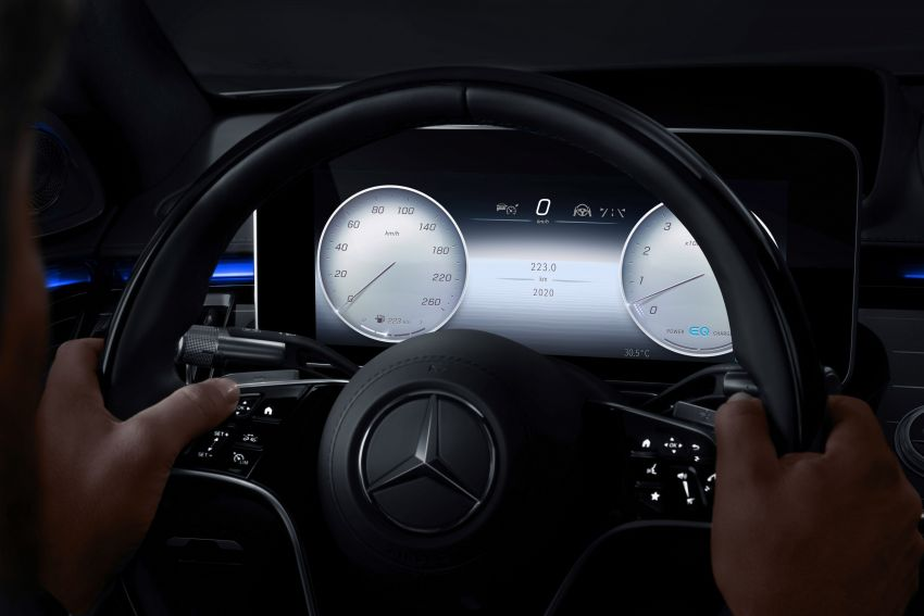 W223 Mercedes-Benz S-Class' new MBUX detailed – 12.8-inch touchscreen, AR HUD, Interior Assist Image #1143304