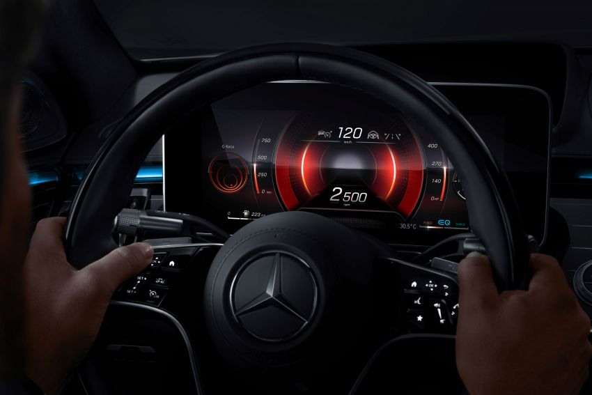 W223 Mercedes-Benz S-Class' new MBUX detailed – 12.8-inch touchscreen, AR HUD, Interior Assist Image #1143307