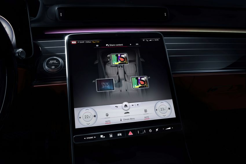 W223 Mercedes-Benz S-Class' new MBUX detailed – 12.8-inch touchscreen, AR HUD, Interior Assist Image #1143299