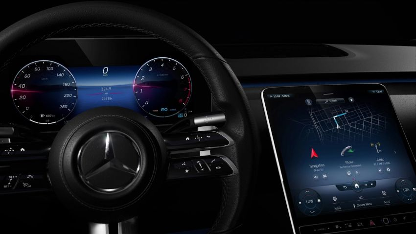 W223 Mercedes-Benz S-Class' new MBUX detailed – 12.8-inch touchscreen, AR HUD, Interior Assist Image #1143357
