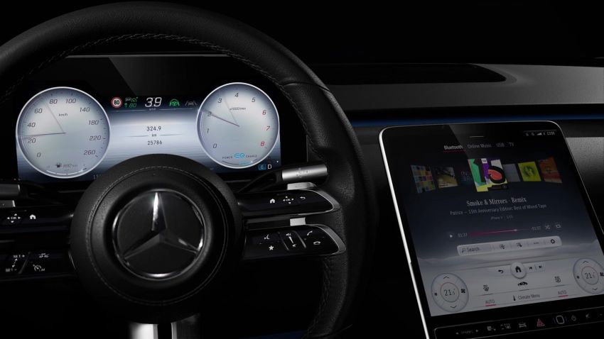 W223 Mercedes-Benz S-Class' new MBUX detailed – 12.8-inch touchscreen, AR HUD, Interior Assist Image #1143358