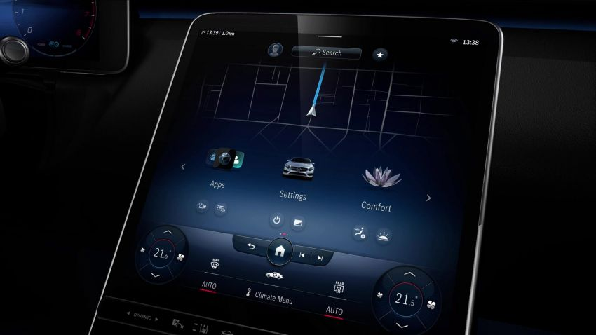 W223 Mercedes-Benz S-Class' new MBUX detailed – 12.8-inch touchscreen, AR HUD, Interior Assist Image #1143378