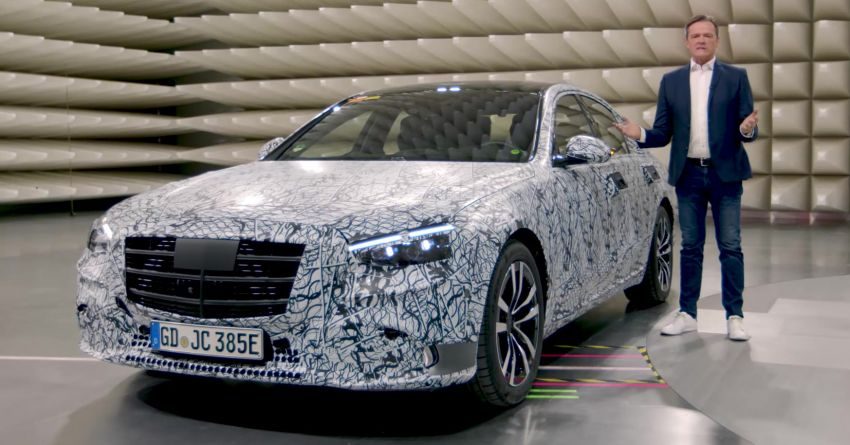 W223 Mercedes-Benz S-Class  to debut in September – big MBUX screen; PHEV variant with 100 km EV range Image #1141652
