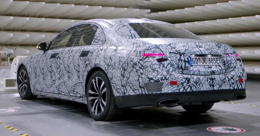W223 Mercedes-Benz S-Class  to debut in September – big MBUX screen; PHEV variant with 100 km EV range Image #1141653