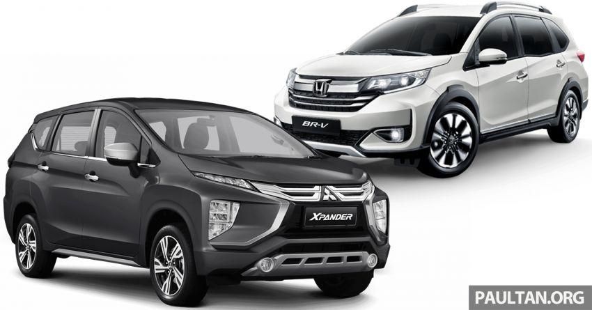 Mitsubishi Xpander vs Honda BR-V – spec-by-spec comparison of 7-seat MPVs ahead of Xpander launch Image #1154239