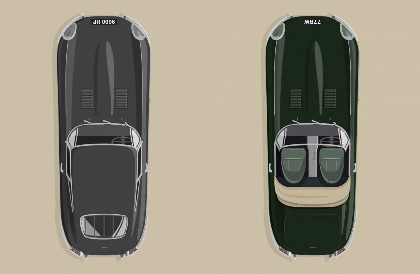 Jaguar E-Type 60 Edition – commemorative versions of the coupe and roadster, limited to six matched pairs Image #1158780