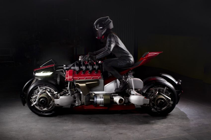 Malaysia's flying car? Here's the Lazareth LMV 496 flying motorcycle from France, and it actually flies Image #1155559
