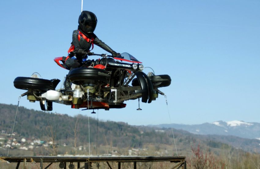 Malaysia's flying car? Here's the Lazareth LMV 496 flying motorcycle from France, and it actually flies Image #1155555