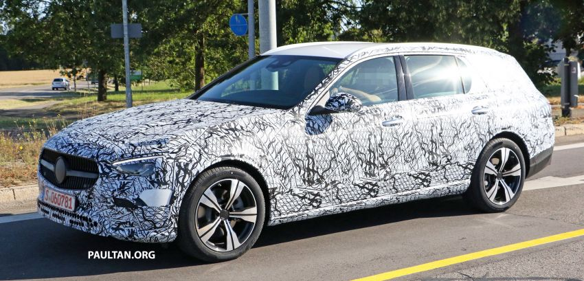 SPYSHOTS: Mercedes-Benz C-Class station wagon seen testing; 'X206' All-Terrain variant to join line-up Image #1158597