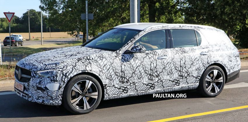 SPYSHOTS: Mercedes-Benz C-Class station wagon seen testing; 'X206' All-Terrain variant to join line-up Image #1158596