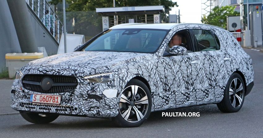 SPYSHOTS: Mercedes-Benz C-Class station wagon seen testing; 'X206' All-Terrain variant to join line-up Image #1158609