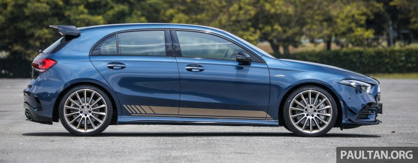 GALLERY: W177 Mercedes-AMG A35 4Matic Edition 1 hatchback – from RM367k; 2.0L turbo; 306 PS, 400 Nm Image #1158410