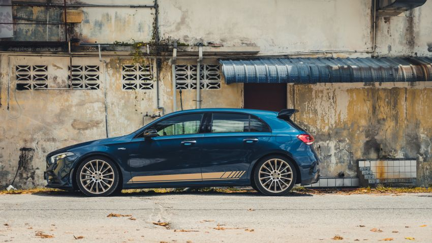 GALLERY: W177 Mercedes-AMG A35 4Matic Edition 1 hatchback – from RM367k; 2.0L turbo; 306 PS, 400 Nm Image #1158546