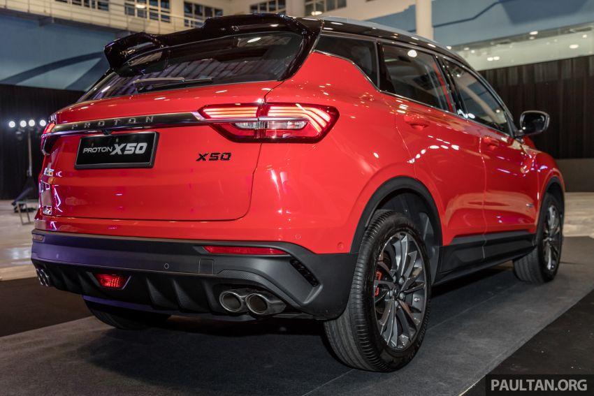 Proton X50 SUV previewed – 4 variants, 6 colours, 1.5TGDi and 7DCT, Level 2 semi-autonomous driving Image #1177221