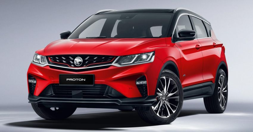 2020 Proton X50 officially revealed with two-tone red/black exterior and interior, Infinite Weave grille Image #1175343