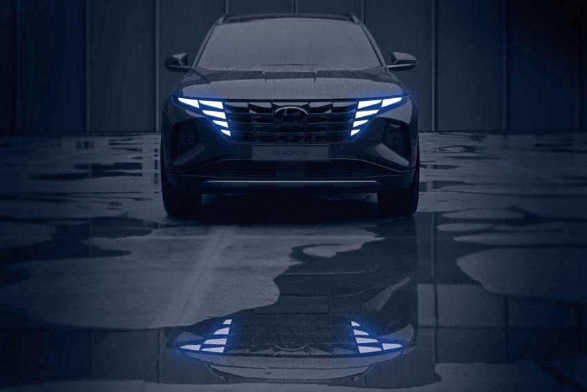 2021 Hyundai Tucson SUV teased – Parametric hidden LEDs, two wheelbase options, September 15 debut Image #1170325