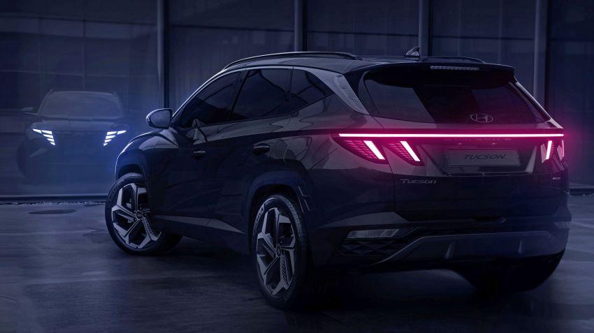 2021 Hyundai Tucson SUV teased – Parametric hidden LEDs, two wheelbase options, September 15 debut Image #1170326