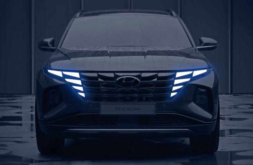 2021 Hyundai Tucson SUV teased – Parametric hidden LEDs, two wheelbase options, September 15 debut Image #1170328