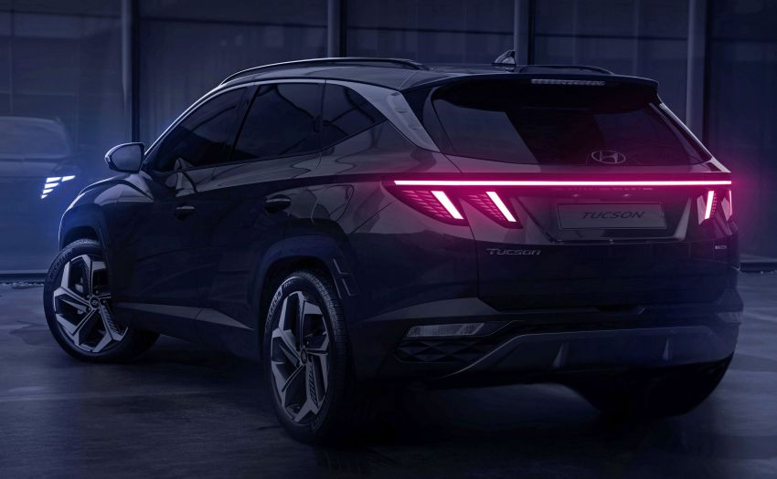 2021 Hyundai Tucson SUV teased – Parametric hidden LEDs, two wheelbase options, September 15 debut Image #1170329