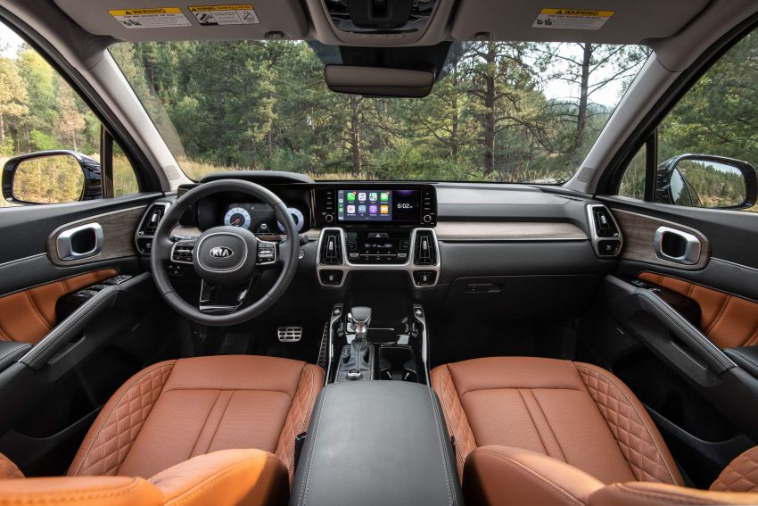 2021 Kia Sorento for the US – three-row SUV offered with four powertrains, six- or seven-seat layouts Image #1181390