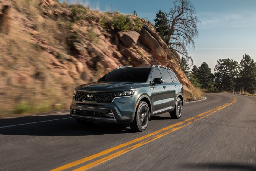 2021 Kia Sorento for the US – three-row SUV offered with four powertrains, six- or seven-seat layouts Image #1181353