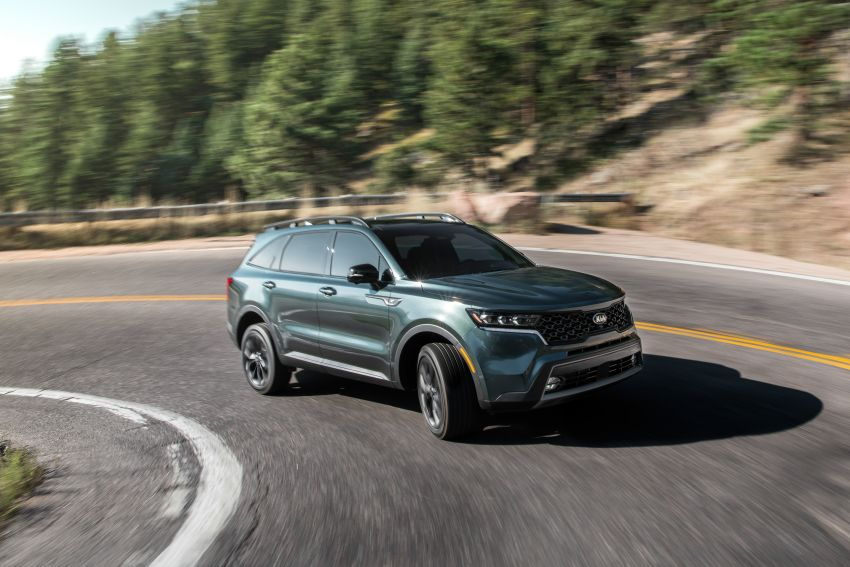 2021 Kia Sorento for the US – three-row SUV offered with four powertrains, six- or seven-seat layouts Image #1181356