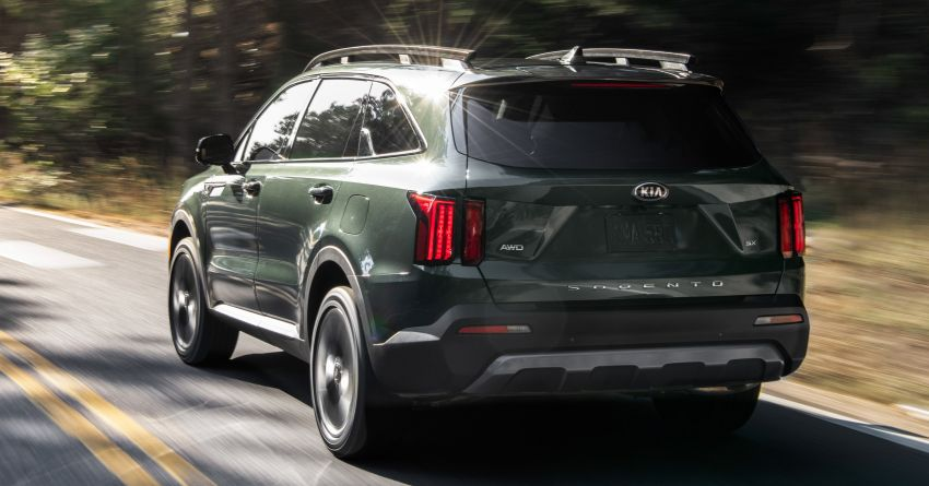 2021 Kia Sorento for the US – three-row SUV offered with four powertrains, six- or seven-seat layouts Image #1181361