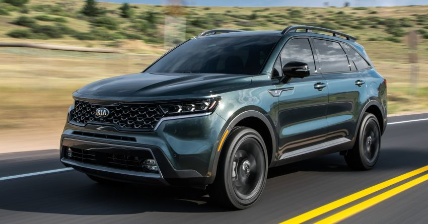 2021 Kia Sorento for the US – three-row SUV offered with four powertrains, six- or seven-seat layouts Image #1181366