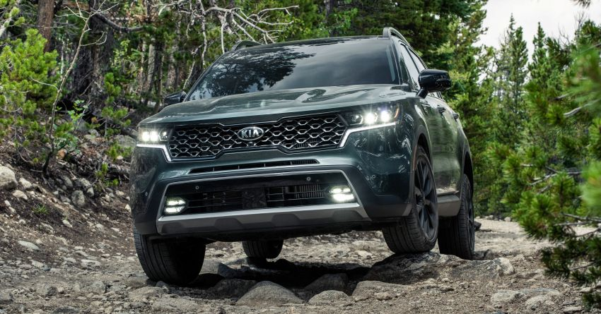 2021 Kia Sorento for the US – three-row SUV offered with four powertrains, six- or seven-seat layouts Image #1181369