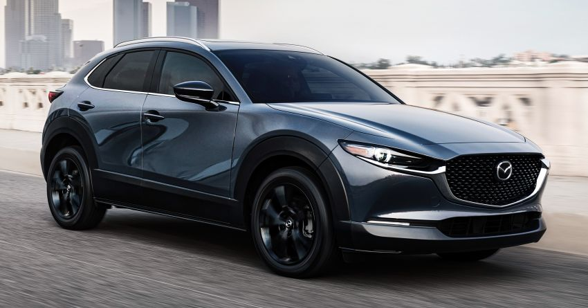2021 Mazda CX-30 Turbo debuts in the US – 2.5 litre turbo-four with 250 hp, 434 Nm; 6-speed auto, AWD Image #1178761