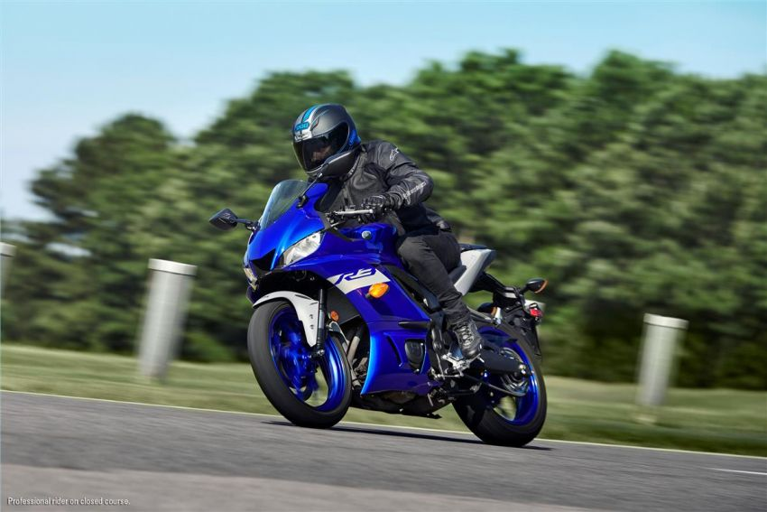 2021 Yamaha YZF-R3 in new teal and MotoGP livery Image #1174170