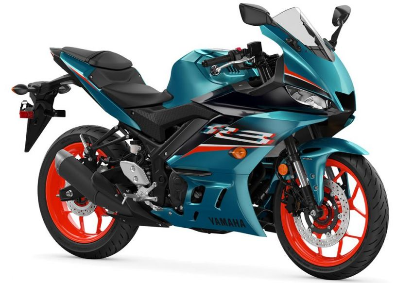 2021 Yamaha YZF-R3 in new teal and MotoGP livery Image #1174181