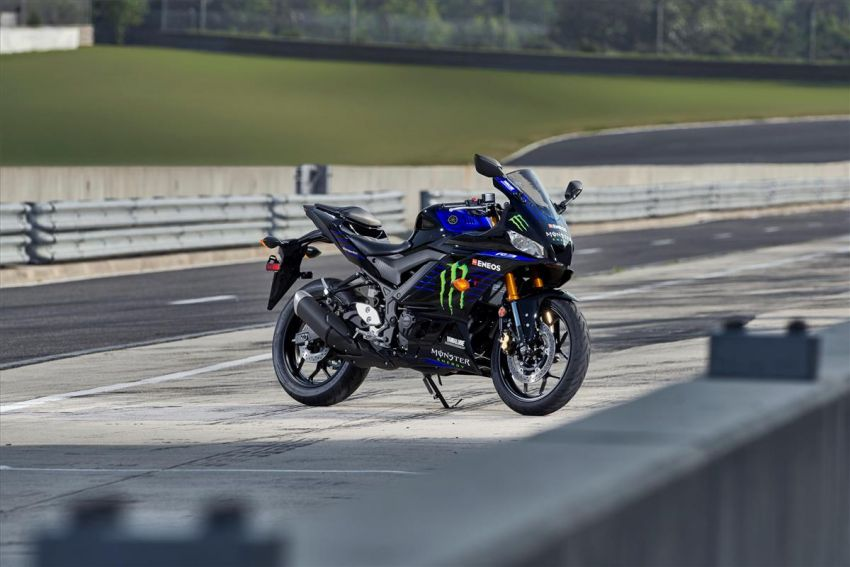 2021 Yamaha YZF-R3 in new teal and MotoGP livery Image #1174185