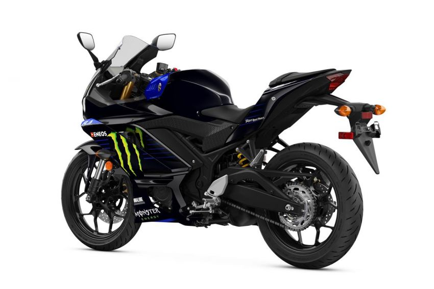 2021 Yamaha YZF-R3 in new teal and MotoGP livery Image #1174198