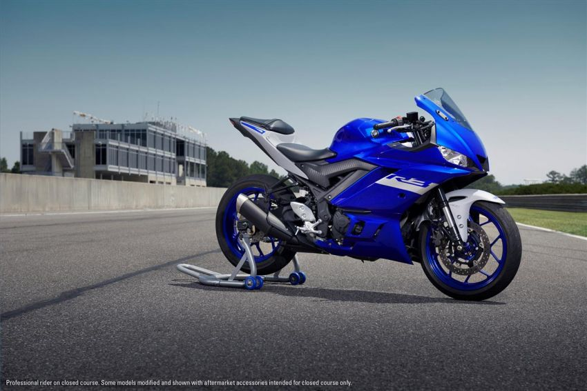 2021 Yamaha YZF-R3 in new teal and MotoGP livery Image #1174173