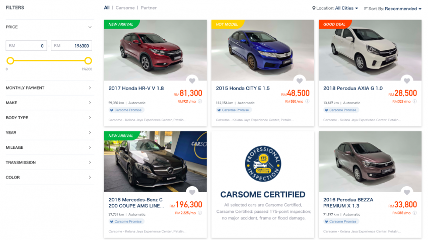 AD: Buying a used car on Carsome – what do Malaysians like to buy and why do they like them? Image #1170055