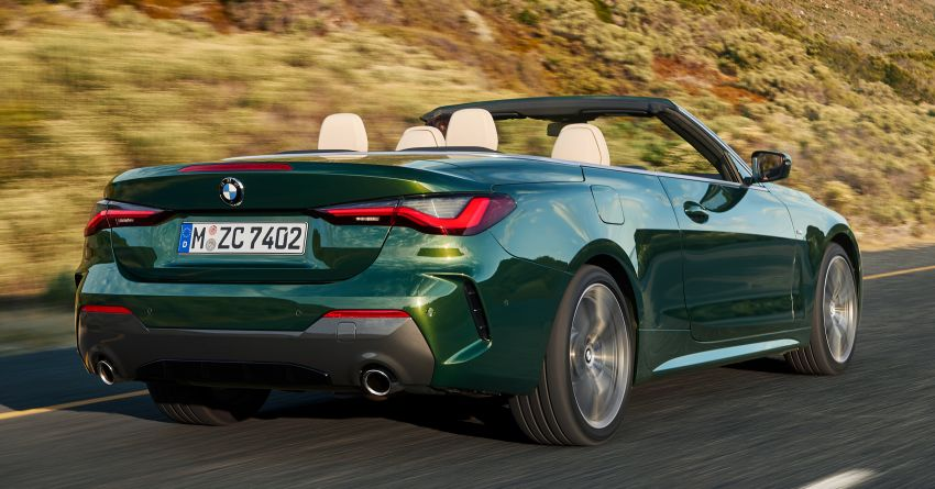 G23 BMW 4 Series Convertible debuts – less weight, 80-litre gain in luggage capacity with new fabric roof Image #1185452