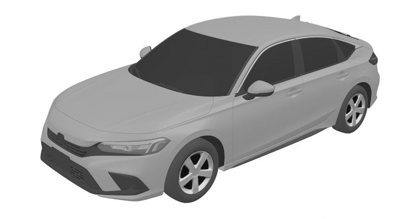 Eleventh-generation Honda Civic design revealed in patent images – sedan and hatchback versions seen Image #1185456