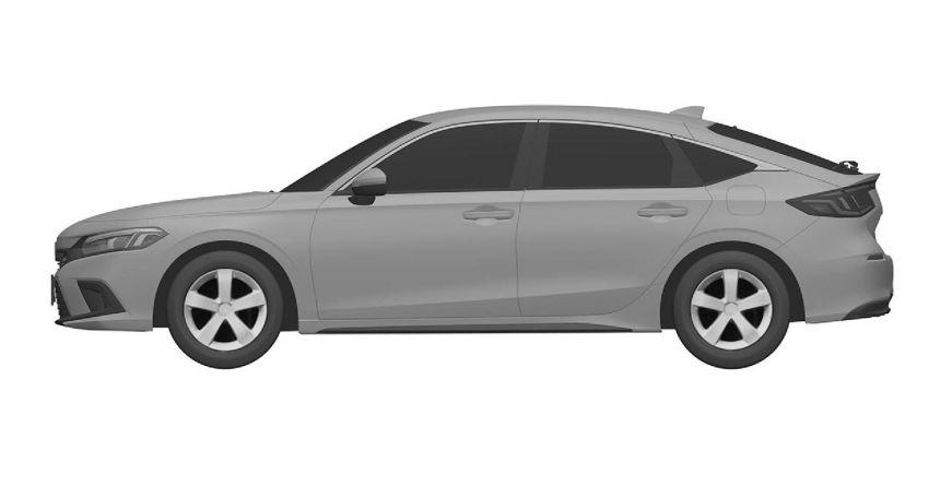 Eleventh-generation Honda Civic design revealed in patent images – sedan and hatchback versions seen Image #1185459