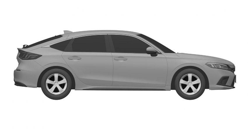 Eleventh-generation Honda Civic design revealed in patent images – sedan and hatchback versions seen Image #1185460