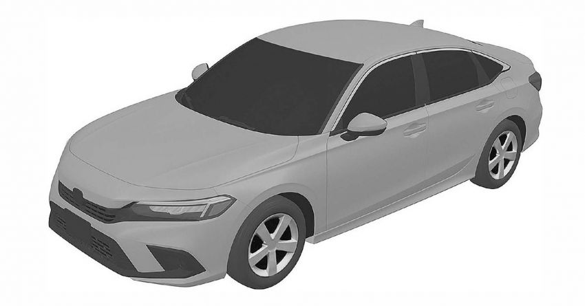Eleventh-generation Honda Civic design revealed in patent images – sedan and hatchback versions seen Image #1185464