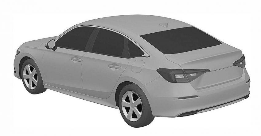 Eleventh-generation Honda Civic design revealed in patent images – sedan and hatchback versions seen Image #1185465