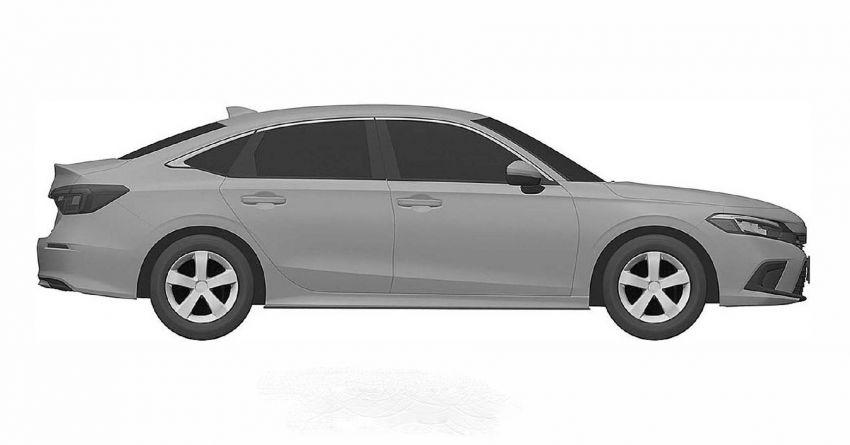 Eleventh-generation Honda Civic design revealed in patent images – sedan and hatchback versions seen Image #1185468