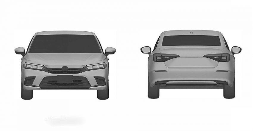 Eleventh-generation Honda Civic design revealed in patent images – sedan and hatchback versions seen Image #1185469