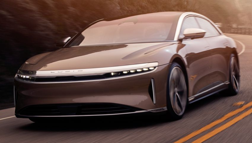 Lucid Air – production electric sedan debuts with up to 1,080 hp, 0-60 mph in 2.5 secs, 832 km of range Image #1174502